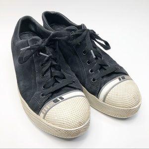 Prada Black Suede Sneakers
